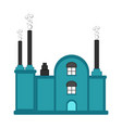 isolated factory icon vector image