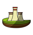 isolated nuclear factory vector image vector image