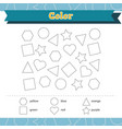 learn shapes and geometric figures color vector image