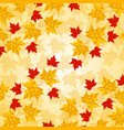maple leaves in triangular style vector image