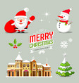 merry christmas collection design vector image