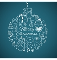 Merry Christmas post card template vector image vector image
