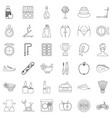 mirror icons set outline style vector image vector image