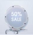 modern round billboard sale poster vector image vector image