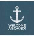 Nautical Design Sailor emblem Anchor vector image vector image