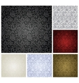 Pattern seamless set vector image