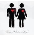 Polygon couple in love - vector image vector image
