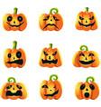 pumpkins expressions vector image