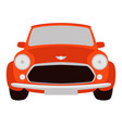 red classic car vector image vector image