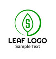 s leaf logo symbol icon sign vector image