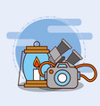 safari equipment supplies vector image