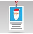 Santa Id card in flat design vector image
