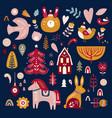 scandinavian christmas vector image vector image