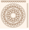 Seamless pattern stylized as henna vector image vector image
