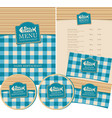 set of design elements for seafood restaurant vector image vector image