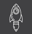 start up line icon business and rocket vector image