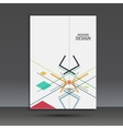 Templates geometric abstract design in A4 Modern vector image vector image