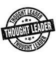 thought leader round grunge black stamp vector image vector image
