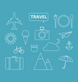 travel theme icons vector image