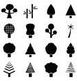 tree icon set vector image vector image