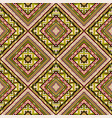 tribal motifs seamless colorful rhombus pattern vector image vector image