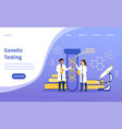 two scientists doing genetic testing vector image vector image