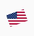 us flag in a mug vector image vector image