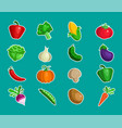 vegetable icon designs vector image