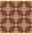 vintage gold damask seamless pattern ornamental vector image vector image