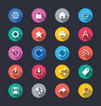 web simple color icons vector image vector image