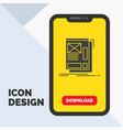 wire framing web layout development glyph icon in vector image vector image