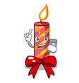 with phone character christmas decoration with vector image vector image
