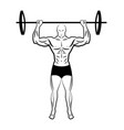 a man lifting a barbell athlete vector image vector image