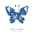 abstract ice chrystals butterfly silhouette vector image