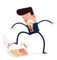 angry businessman vector image