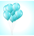 background with bright light blue balloons vector image vector image