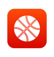basketball ball icon digital red vector image vector image