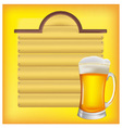 beer and menus vector image vector image