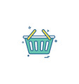 bsket shopping online cart icon vector image vector image
