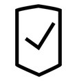 business shop shield success icon vector image vector image