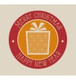 card gift merry christmas and new year design vector image vector image