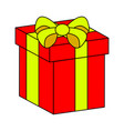christmas box gift icon symbol design isolated on vector image