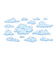 collection fluffy clouds different shapes vector image vector image