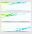 collection of fresh spring line flyers vector image vector image