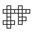 crossword icon simple linear vector image vector image