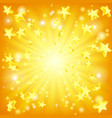 exploding stars background vector image vector image
