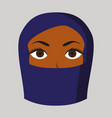 flat icon on theme arabic business portrait of a vector image vector image