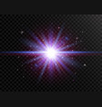 futuristic light on transparent background flash vector image