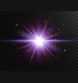 futuristic light on transparent background flash vector image vector image