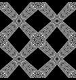 geometric black white 3d greek seamless pattern vector image vector image